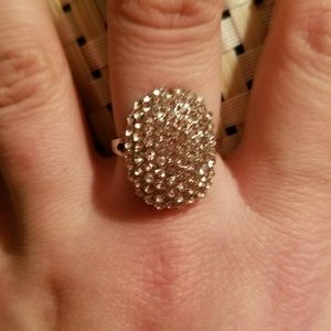 Jewelry - Size 7 Silver and Australian Crystal Ring