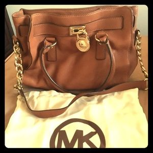 MK Medium Leather Satchel