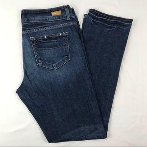 Paige Petite Hidden Hills Straight Leg Jeans