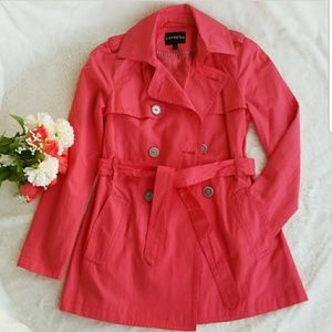 EXPRESS Coral Trench Coat, Size S/P