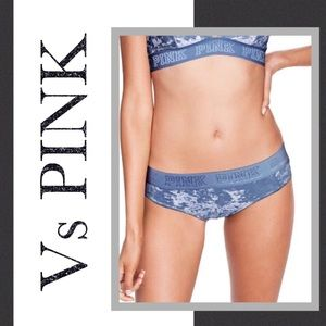 New VS PINK Crushed Velvet Liquid Cheeky Panties