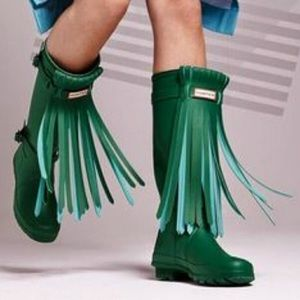 😍Hunter Fringe Rainboots😍
