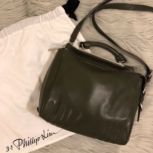 3.1 Phillip Lim Small Ryder Satchel Dark Olive