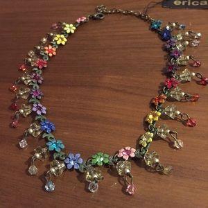 Jewelry - 🌺 🌈 Secret Garden Rainbow Rhinestone necklace
