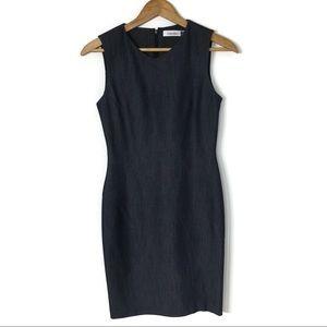 Calvin Klein stretch denim sleeveless dress size 2