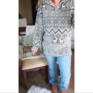 Vintage winter classic oversized Sherpa sweater ☕️
