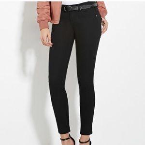 Ankle Black Jeans