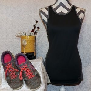 UNDER ARMOUR BLACK & GREY LOOSE FIT TANK