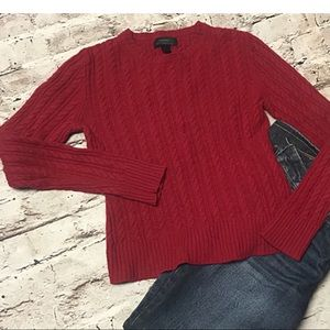 EXPRESS RED MARINO WOOL/CASHMERE BLEND SWEATER