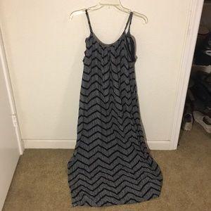 Marina black and white maxi dress