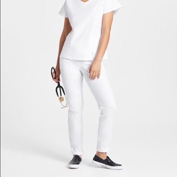 4c9189f5913 Jaanuu Pants - Jaanuu by Dr. Neela skinny white scrub pants