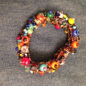 Bracelet with colorful beads.