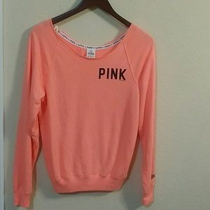 Pink off the shoulder sweater - XS
