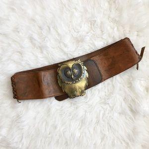 Brass Owl Belt