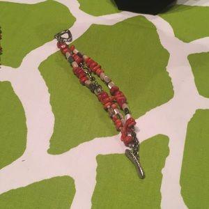 Retired Silpada Sponge Coral Bracelet