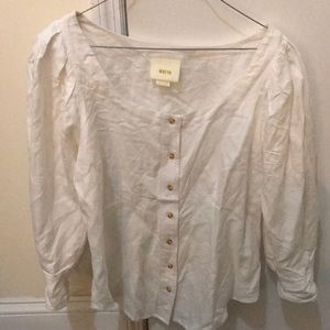 MAEVE/ANTHROPOLOGIE BUTTON DOWN BNWOT- SIZE 6