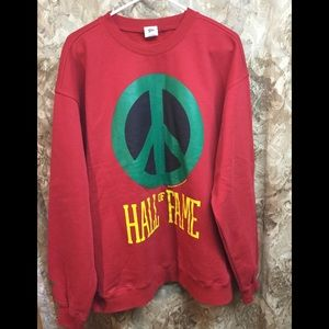 Hall of Fame PEACE Red/Green Sweatshirt