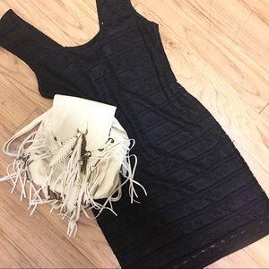 BCBGeneration Black Lace Mini Dress
