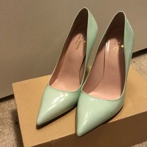 Mint Green Kate Spade Licorice pointy heels