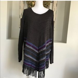 Soft Surroundings Foley Fringe Pullover Size XL