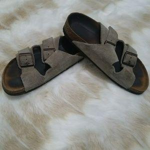 Tan Suede Birkenstock Sandals Size 6