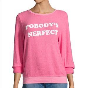 NWT Wildfox Pobodys Nerfect shirt sweater
