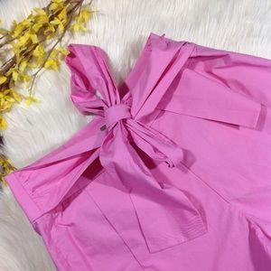 J.CREW | tie-waist short in cotton poplin