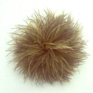J. Crew pom pom feather pin/hair clip
