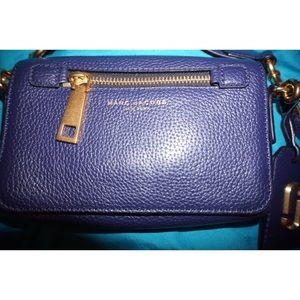 Small Navy Leather Marc Jacobs Crossbody Purse