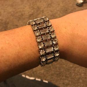Stretchy silver bracelet