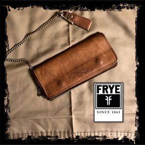 Vintage leather wristlet mini bag wallet clutch
