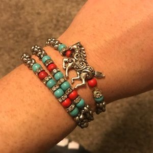 Wrap around horse bracelet