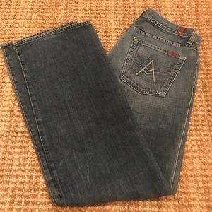 7FAM Jeans 'A' Pocket Women's Denim 33x33 EUC