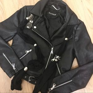 🆕 Express Faux Leather Jacket