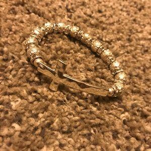 Super shiny silver cross bracelet