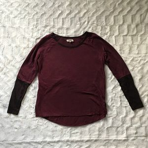 Madewell top long sleeve high low size Small