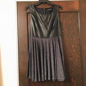 Leather & Glitter MinkPink Dress