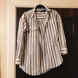 Striped Madewell Long Sleeve Top