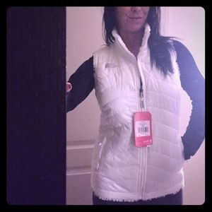 Reversible White North Face Vest Brand New Size SM