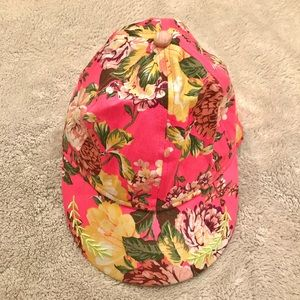 Pink Floral Baseball Cap