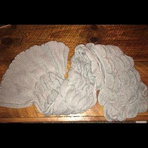 Grey anthropologie scarf
