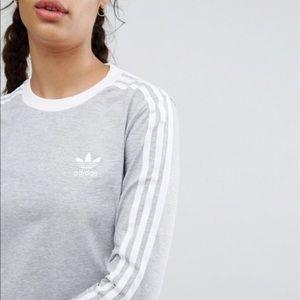 Adidas 3 stripe tee