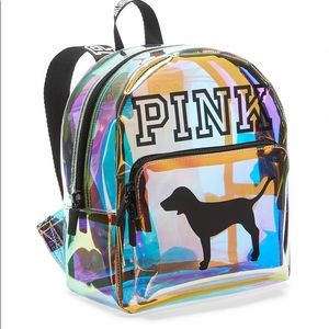 Mini Shine Clear Iridescent Vinyl Backpack