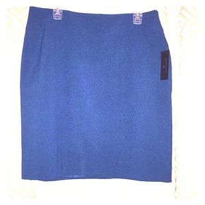 NWT Worthington Teal Blue Straight Skirt