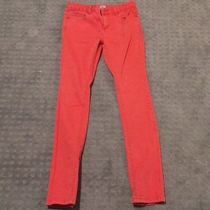 Free People Jeans boot cut skinny coral salmon W26