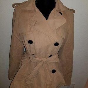 H&M beige light weight coat