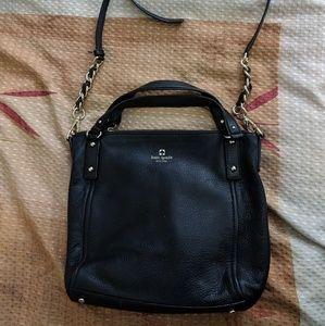 Kate Spade Black Leather Two-Way Crossbody Handbag
