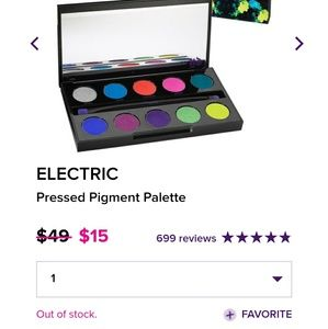 UD electric pressed pigment palette