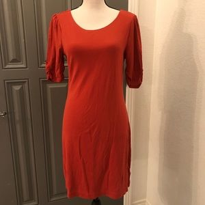 BR Dress Knit Women's Medium Burnt Orange EUC