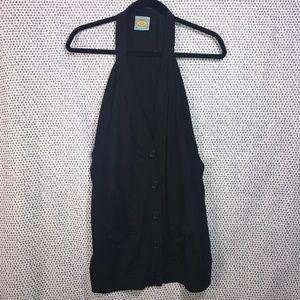 C&C California Black Envelope Sleeveless Vest
